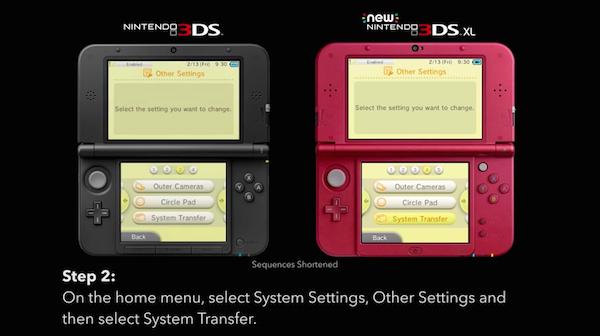 Nintendo 3DS XL System Transfer image
