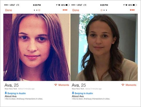 Ava Tinder profile