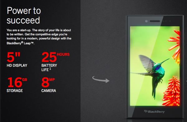 BlackBerry Leap promo poster