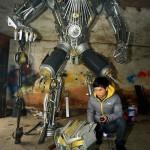 Scrap Metal Transformers Sculptures 03