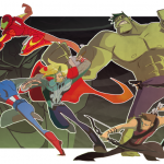 Cartoonish Avengers