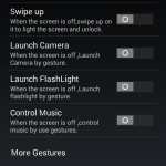 Kingzone Z1 – Predefined Screen Gestures