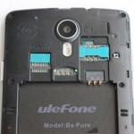 Ulefone Be Pure SIM Slots