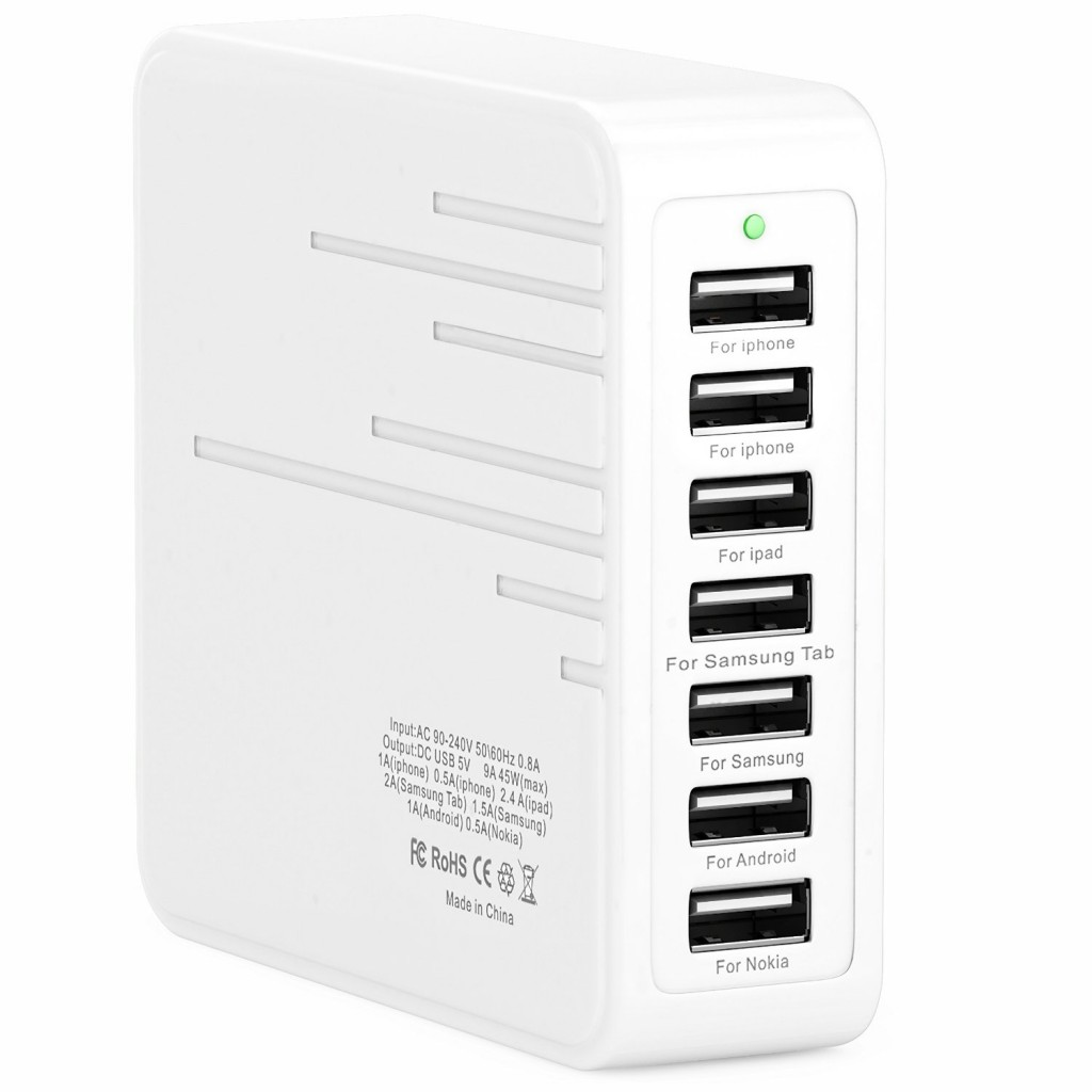 Foxx 7 port 45 W USB charger