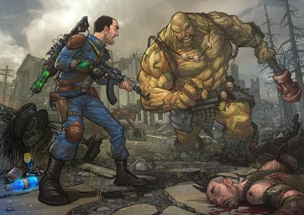 Meeting a Super Mutant