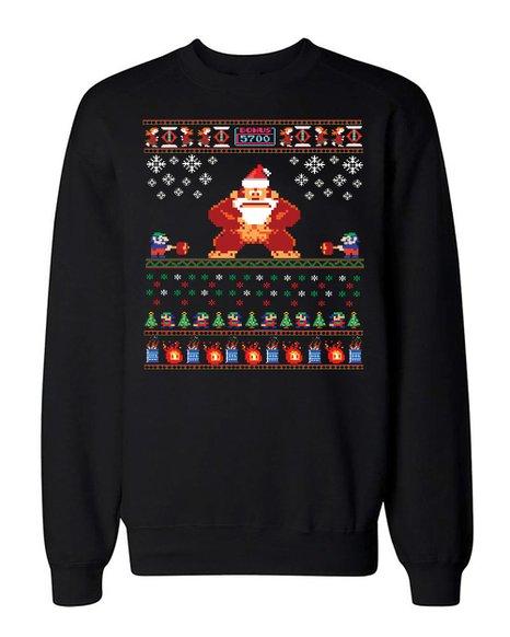 Donkey Kong Ugly Christmas Sweater Sweatshirt Retro Gamer Nintendo