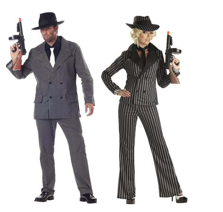 Gangster Couples Costume