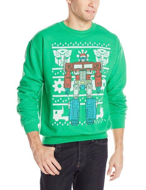 Geekiest Christmas Sweaters Transformers Men's Optimus Prime