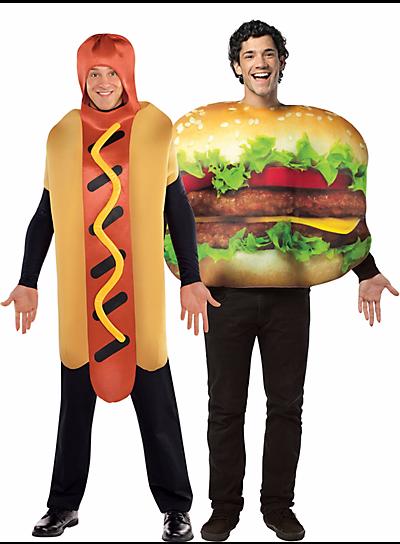 Halloween-Couples-Costumes-Ideas-Hamburguer-Hot-Dog