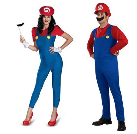 Male & female Mario (Super Mario Bros)