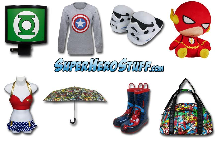 Superhero stuff holiday shopping