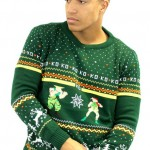 geeky Street Fighter Guile Vs. Cammy Christmas Sweater