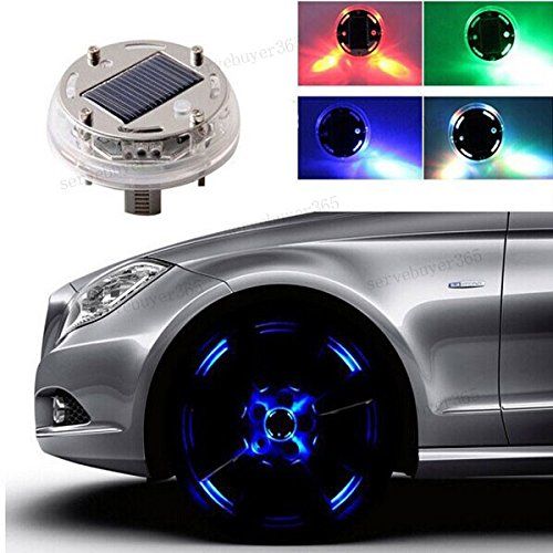 Geeky Car Accesories 12 LED Solar Tire
