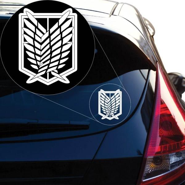 Geeky Car Accesories Attack On Titan Car Decal