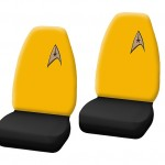 Geeky Car Accesories Star Trek Yellow Seat Covers