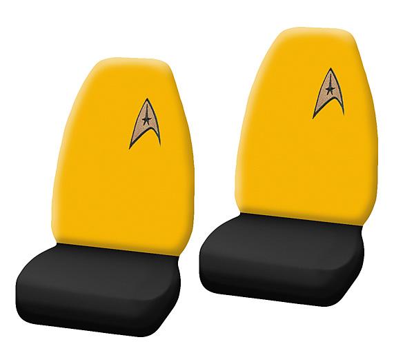 Geeky Car Accesories Star Trek Seat Covers
