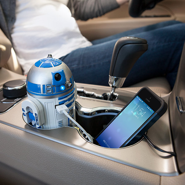 Geeky Car Accesories Star Wars R2-D2 Car USB Charger