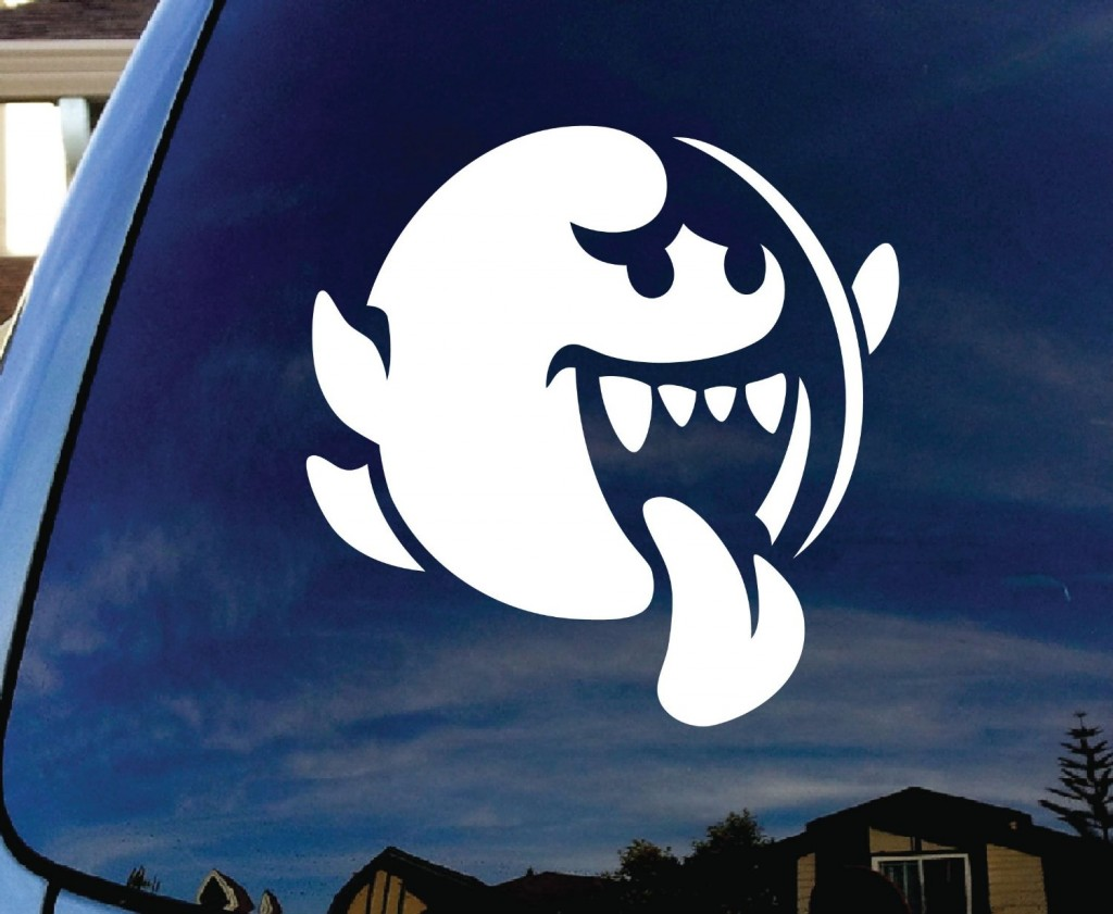 Geeky Car Accesories Super Mario Bros Boo Car Decal