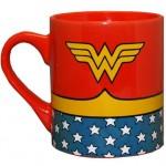 Silver Buffalo Wonder Woman Uniform Ceramic Coffee Mug 14-Ounce