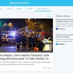 Twitter #PorteOuverte November 2015 Paris Attacks