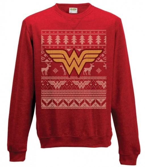 geeky Wonder Woman Christmas Sweater