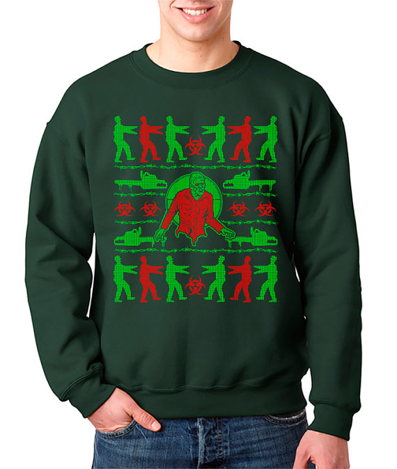 geeky Zombie Ugly Christmas Sweater