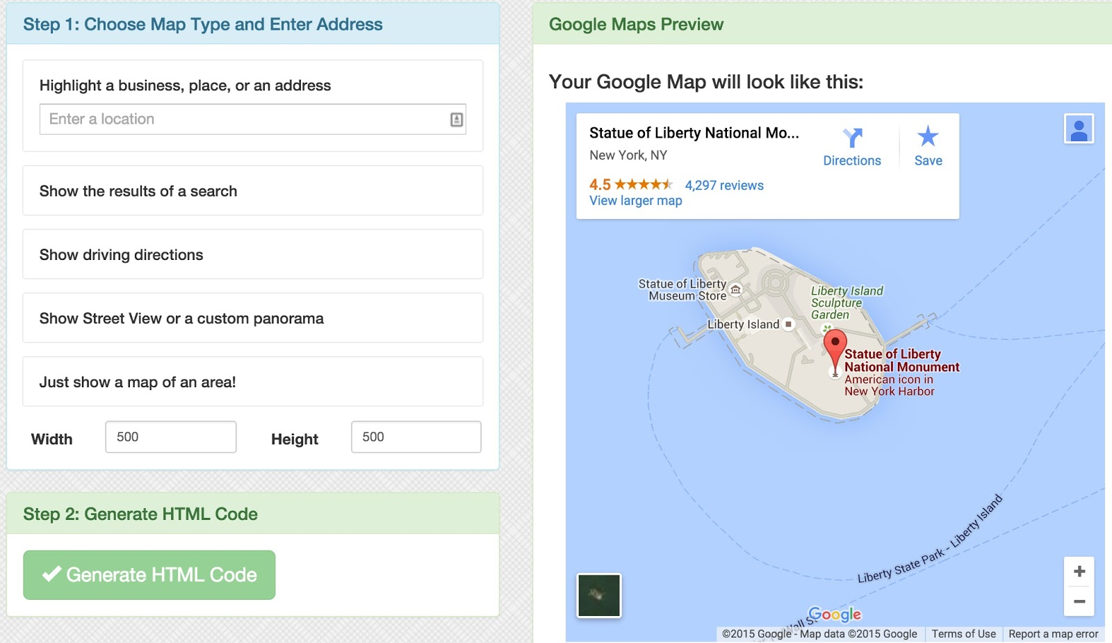 tools for  creating map Embed-Map