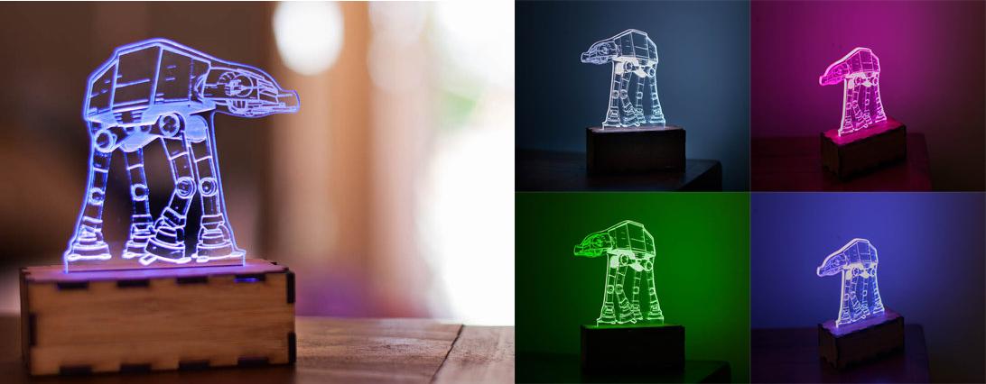 AT-AT Walker lamp, Star Wars lamp, Star Wars night light lamp, Star wars office, star wars