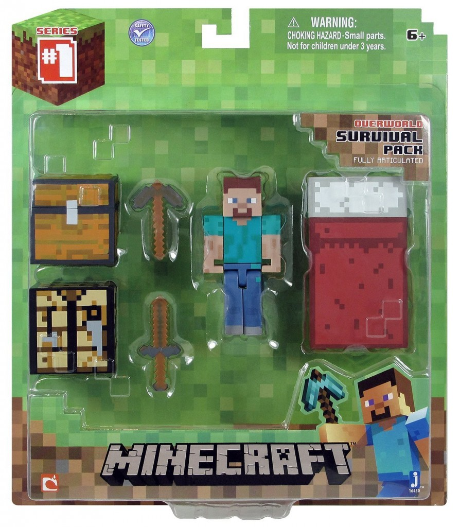Christmas Action Figures Minecraft Core Player Survival Pack