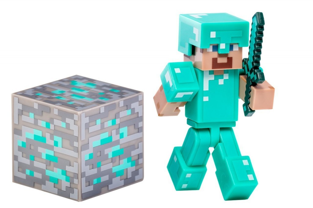 Christmas Action Figures Minecraft Diamond Steve