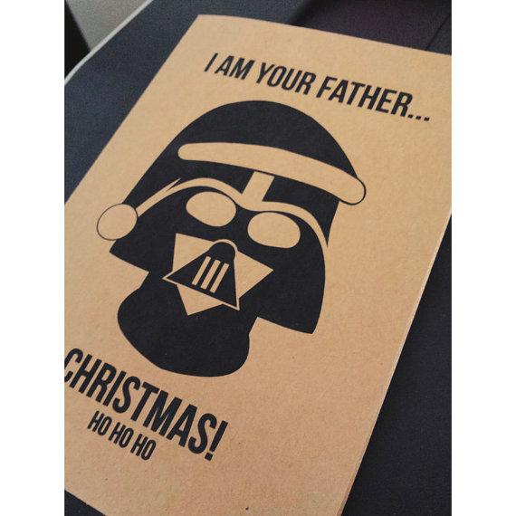 Darth Vader Christmas Greeting Card