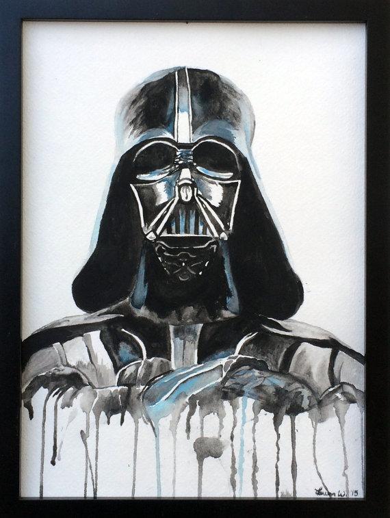Darth Vader- Original Watercolor