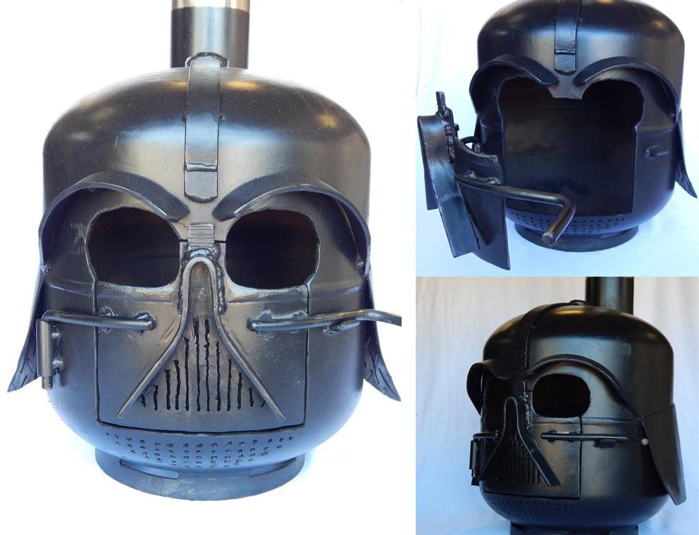 Darth Vader Wood Burning Stove