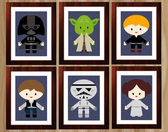 Digital Prints, 9 Prints, Star Wars Nursery,
