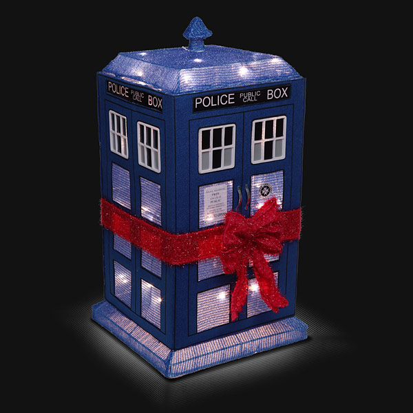 Doctor Who 3D Lighted TARDIS Lawn Décor