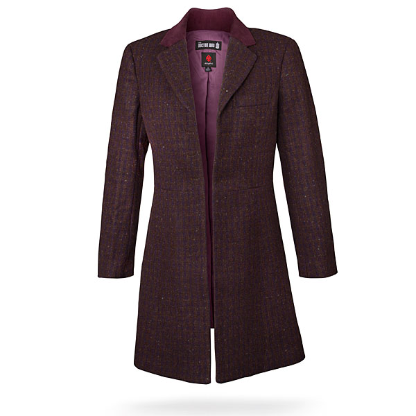 Doctor Who Ladies' 11th Doctor's Purple Coat
