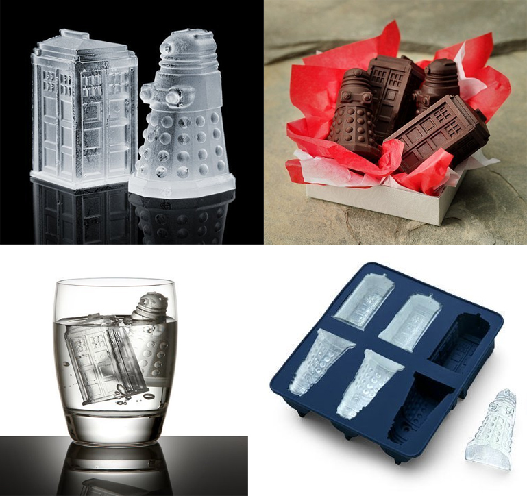 Doctor Who (Tardis and Daleks) Ice Tray Silicone