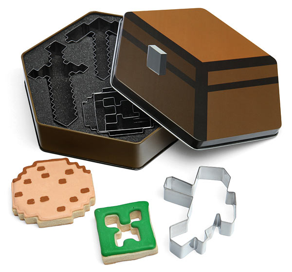 GIFTS IDEAS FOR GAMERS UNDER 20 BUCKS minecraft_cookie_cutters