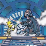 Homer and Bart Simpson Star Wars Parody