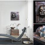 Industrial Steampunk Darth Vader Rusted metal Wall Sculpture Star Wars