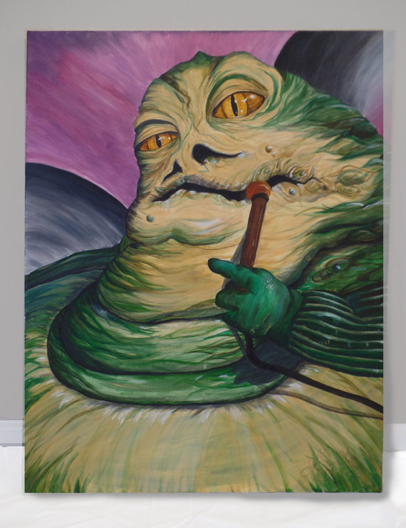 Jabba the Hutt Painting - Star Wars Art - Oil Painting -