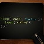 Keep Calm Keep Coding Desktop Mouse Pad