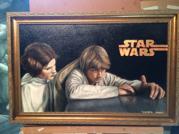 Luke and Leia (Nothing You Could Have Done)  oil painting