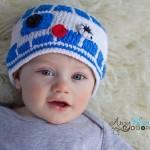 Milk Protein Cotton Yarn R2D2 Hat