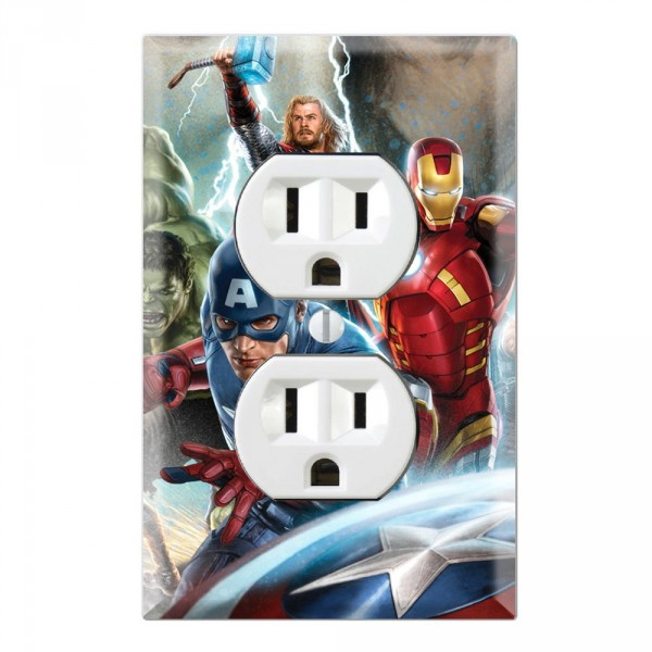 Outlet Wall Plate Covers Marvel The Avengers