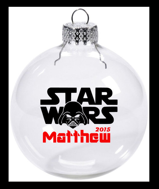 Personalized Star Wars Christmas Ornament Darth Vader