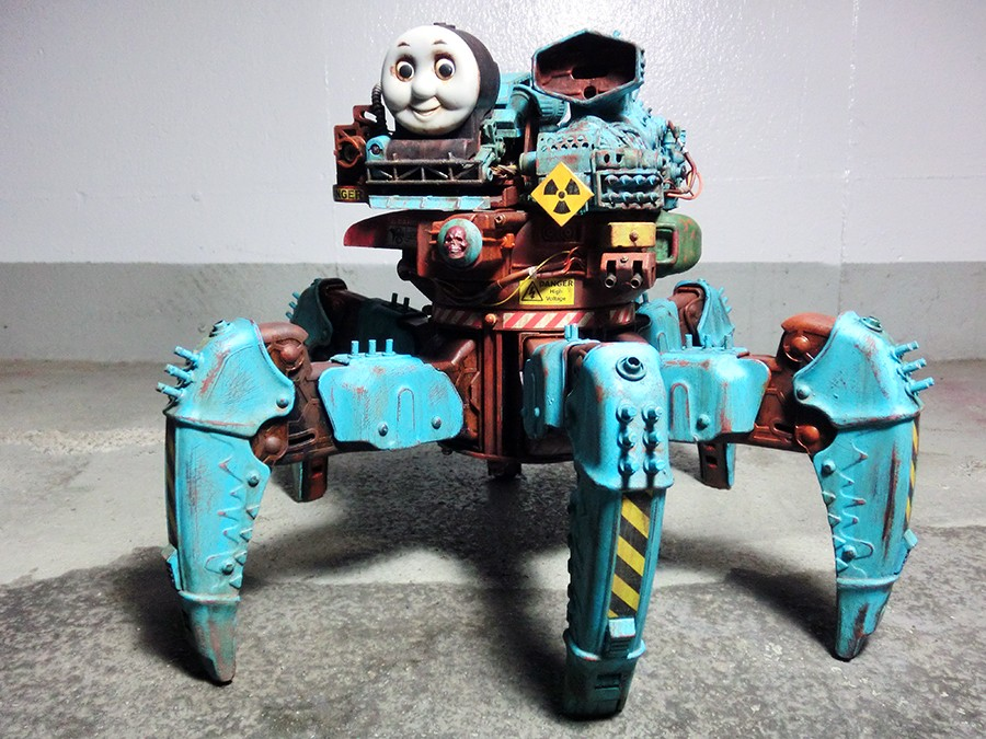 Post-Apocalyptic Thomas the Tank Engine by Y Nakajima
