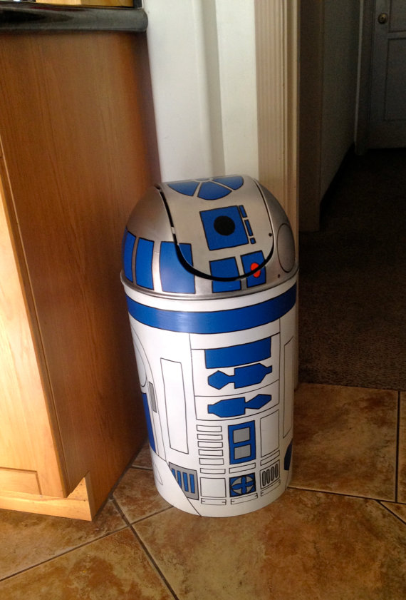 R2D2 Full Size Trashcan