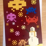 Space Invaders – Christmas card