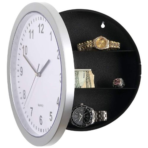 Spy Gadgets Clock Diversion With Hidden Safe